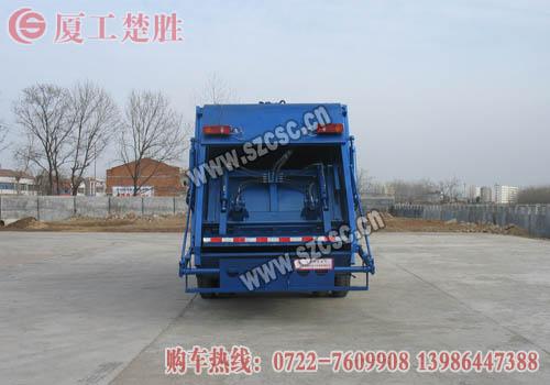 东风天锦压缩式垃圾车垃圾厢内部图片